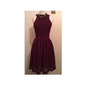 NWT burgundy Dress ZARA